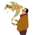 Calling for pizza delivery vector image vector image