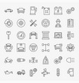 car service line icons set vector image