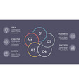 circle linear arrows infographic cycle vector image vector image
