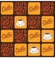 Coffee beans and cups vector image