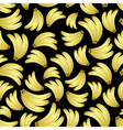 colorful yellow bananas fruits seamless black vector image vector image