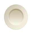 cream china plate vector image