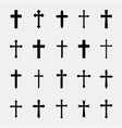 crosses a simple set vector image vector image