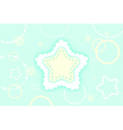 cute abstract green mint and yellow winter star vector image vector image