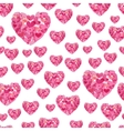 Cute seamless pattern from pink repeating vector image vector image