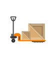 delivery boxes on hand truck in flat design vector image vector image