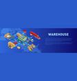 description near warehouse work scheme vector image vector image