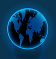 earth globe world blue vector image vector image