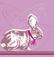 easter eggs bunny drawing vector image