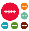 equalizer element icons circle set vector image vector image
