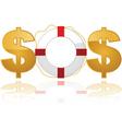 financial lifesaver logo vector image vector image