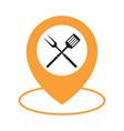 food location icon logo design element bbq or vector image vector image