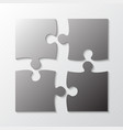 four grey piece jigsaw puzzle four section vector image vector image