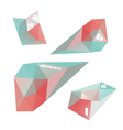 geometric shapes vector image vector image