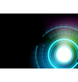 Glowing Segmented Circles vector image vector image