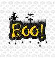 halloween message boo text with bats and spider vector image