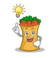 have an idea kebab wrap character cartoon vector image vector image