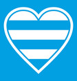 heart lgbt icon white vector image vector image