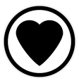 Love sign button vector image vector image