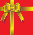 Luxurious gift with gold ribbon vector image vector image