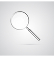 Magnifying Glass Isolated on Grey Background vector image vector image