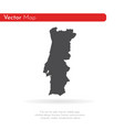 map portugal isolated black vector image