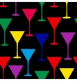 martini glass seamless pattern vector image vector image