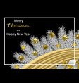merry christmas and happy hew year greeting card vector image