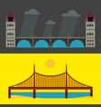 modern bridge flat pictogram business architecture vector image
