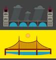 modern bridge flat pictograph business vector image