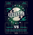 modern professional sports design poster vector image