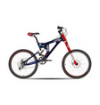 mountain bike in flat style vector image vector image