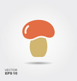 mushroom flat icon colorful logo vector image vector image