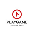 playgame emblem template for players team vector image vector image