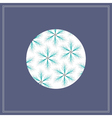 postcard with fir star pattern in circle vector image vector image