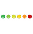 rating emoji icons set of emoticons set flat vector image