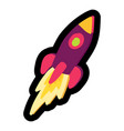 rocket flat color vector image