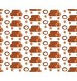 Salami seamless pattern flat style Sausage vector image vector image