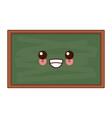 school blackboard isolated cute kawaii cartoon vector image vector image