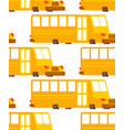 school bus pattern yellow bus for transportation vector image vector image