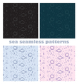 sea world seamless patterns vector image