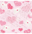 Seamless pattern with letters and hearts vector image