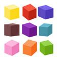 set blank colorful toy bricks vector image