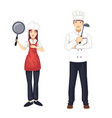 set of chef character vector image