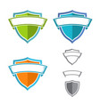 shield with ribbon set vector image vector image