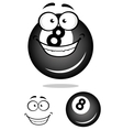 Smiling number 8 billiard ball vector image vector image