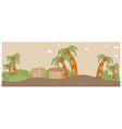 Tropical Landscape scene vector image
