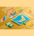 united arab emirates isometric business economy vector image
