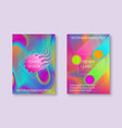 vibrant colored cover templates with iridescent vector image