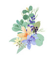 watercolor bouquets florals hand painted lush vector image vector image